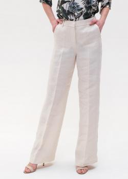 Льняные брюки Max Mara Weekend молочного цвета, фото