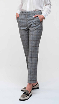 Клетчатые брюки Max Mara Weekend со стрелками, фото