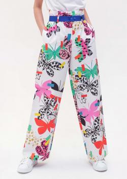 Широкие брюки Max Mara Weekend с ярким принтом, фото