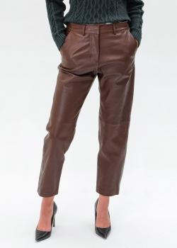 Кожаные брюки Max Mara Weekend Essen прямого кроя, фото