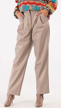 Серые брюки MSGM из искусственной кожи, фото