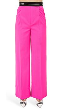 Розовые брюки MSGM из шерсти, фото