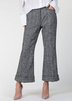 Расклешенные брюки N21 серого цвета, фото