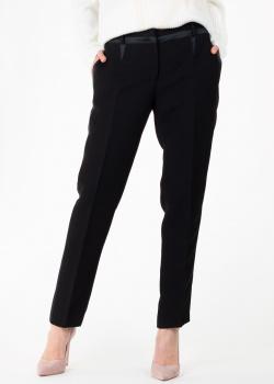Черные брюки N21 с лампасами, фото