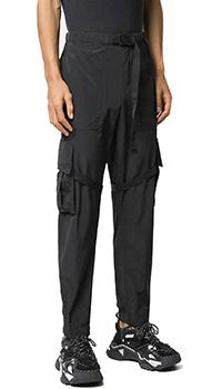 Черные брюки-карго Off-White с большими карманами, фото