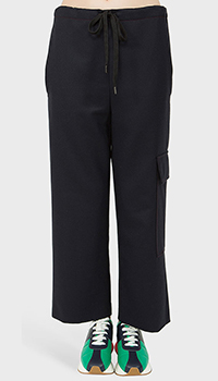 Темно-синие кюлоты Marni с накладными карманами, фото