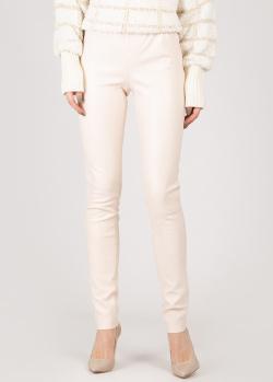 Кожаные брюки Max&Moi с эластичным поясом, фото