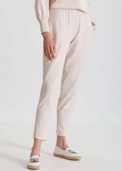 Бледно-розовые трикотажные брюки Max Mara Leisure Pesca, фото