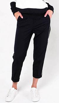 Укороченные синие брюки Peserico с отворотом, фото