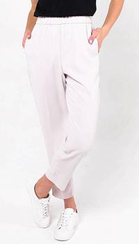 Светло-розовые брюки Peserico с серебристыми лампасами, фото