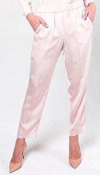 Розовые свободные брюки Peserico с карманами, фото