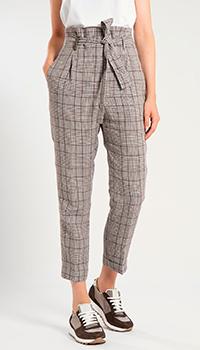 Льняные брюки Peserico с завышеной талией, фото