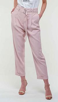 Розовые брюки Peserico с поясом, фото