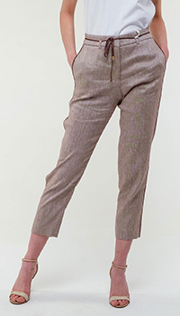 Укороченные брюки Peserico коричневого цвета, фото