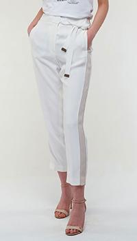 Белые брюки Peserico с лампасами, фото
