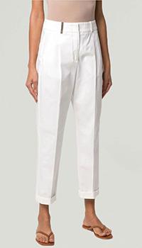 Белые брюки Peserico со стрелками, фото