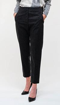 Серые брюки Peserico с люрексной полоской, фото