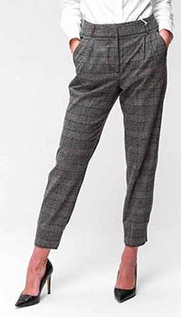 Серые брюки Peserico с защипами, фото