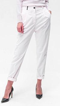 Укороченные брюки Peserico в белом цвете, фото