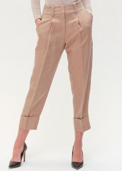 Бежевые брюки Peserico с защипами, фото
