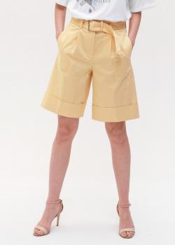 Шорты-бермуды Peserico желтого цвета, фото