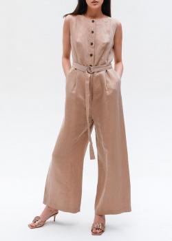 Бежевый комбинезон Peserico с широкими брюками, фото