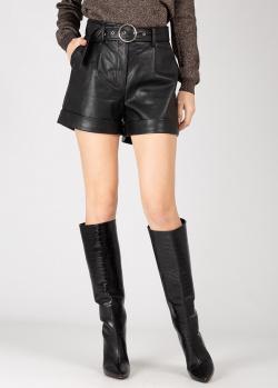 Черные шорты Silvian Heach из искусственной кожи, фото