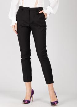 Черные зауженные брюки Silvian Heach со стрелками, фото