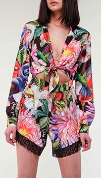 Комбинезон с шортами Philipp Plein с цветочным принтом, фото