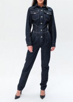 Джинсовый комбинезон Philipp Plein с вышивкой на воротнике, фото