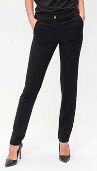 Черные брюки Philipp Plein с кружевными вставками, фото