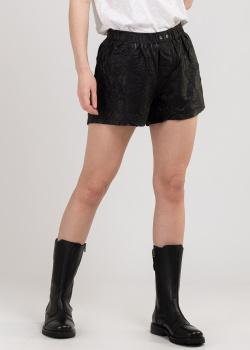 Кожаные шорты Zadig & Voltaire черного цвета, фото
