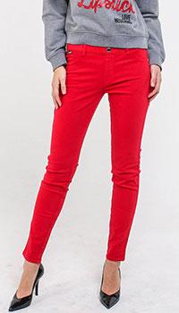 Зауженные брюки Love Moschino красного цвета, фото