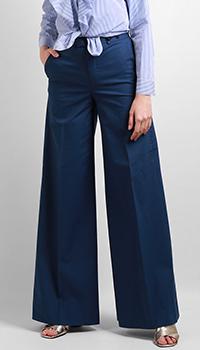 Широкие брюки Red Valentino синего цвета, фото