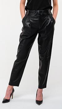 Укороченные кожаные брюки Red Valentino черного цвета, фото