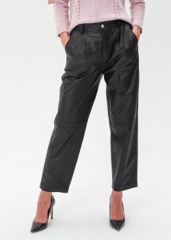 Кожаные штаны Red Valentino черного цвета, фото