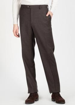 Шерстяные брюки Brioni коричневого цвета, фото