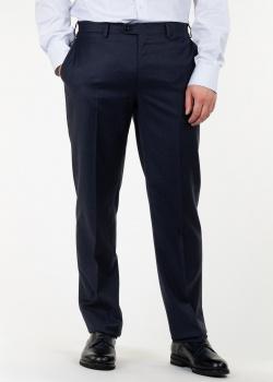 Синие шерстяные брюки Brioni со стрелками, фото