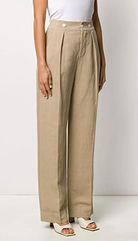 Широкие брюки Lanvin бежевого цвета, фото
