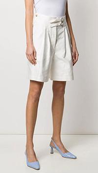 Белые шорты Lanvin с пряжкой, фото