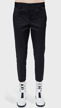 Укороченные черные брюки Dsquared2 со стрелками, фото