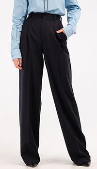 Широкие брюки Dsquared2 синего цвета, фото
