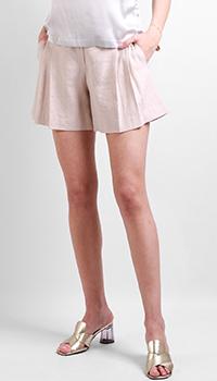 Бежевые шорты Max&Moi из льна с защипами, фото