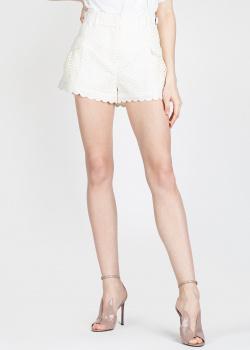 Белые шорты Self-Portrait с волнистым краем, фото