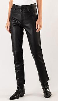 Черные брюки Sandro прямого кроя, фото