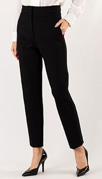 Черные брюки Sandro с завышенной талией, фото