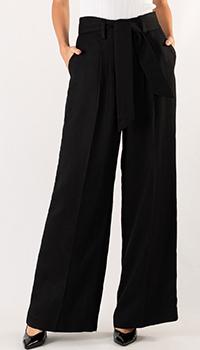 Широкие брюки Sandro черного цвета, фото