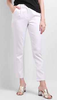 Белые брюки Silvian Heach со стрелками, фото