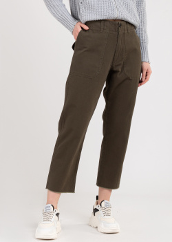 Укороченные брюки Zadig & Voltaire цвета хаки, фото