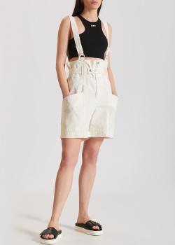 Белые шорты Isabel Marant из хлопка и льна, фото
